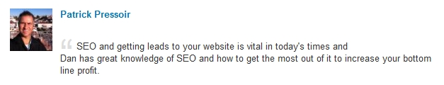 praise for Web services from Patrick